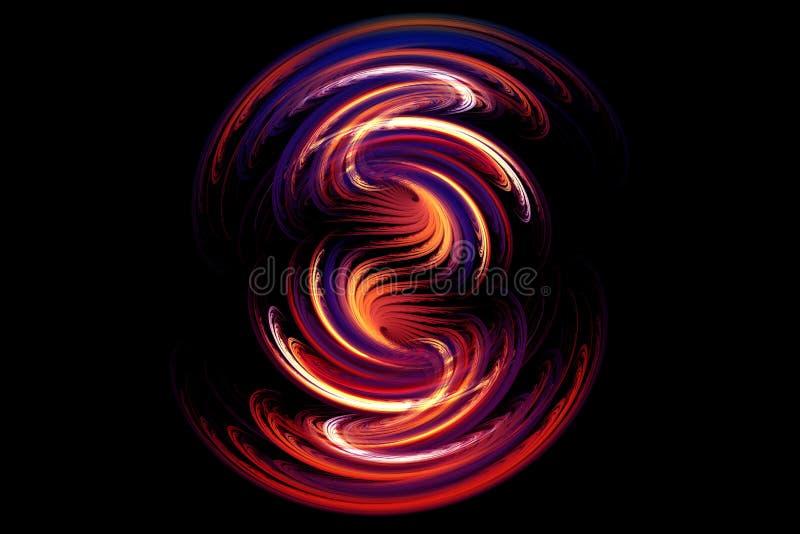 Abstracte fractal het gloeien vorm royalty-vrije illustratie