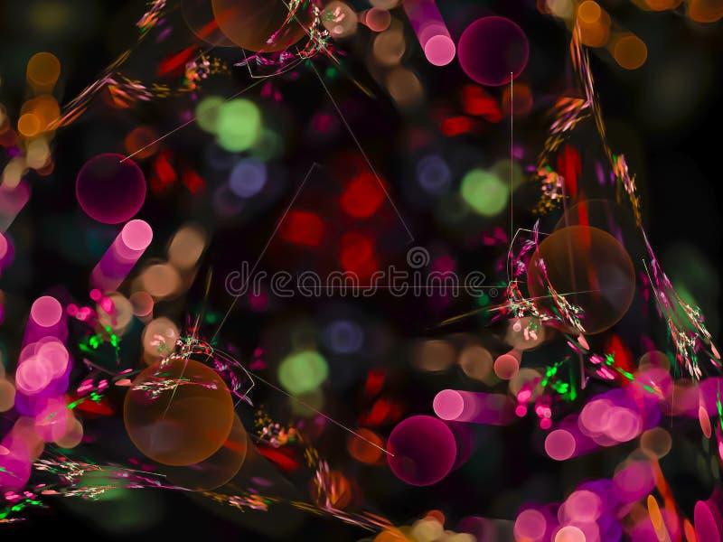 Abstracte fractal kleur, van de de verbeeldingstextuur van de illusiemysticus van de het ontwerpvakantie huidige het malplaatjeen stock afbeeldingen