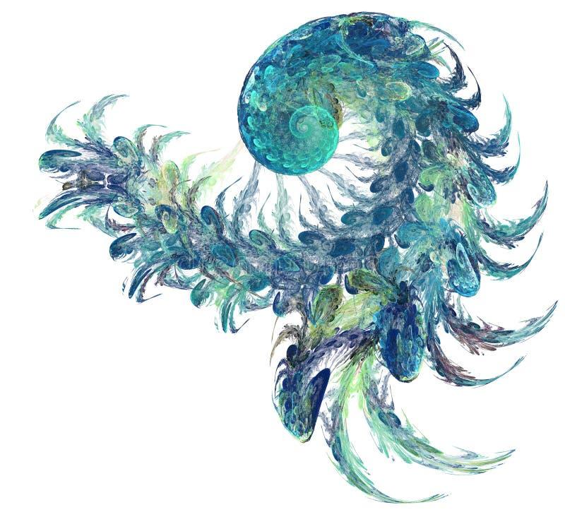 Abstracte fractal kleurentextuur Digitaal art Abstracte Vorm & Kleuren Abstract fractal element voor uw ontwerp royalty-vrije illustratie
