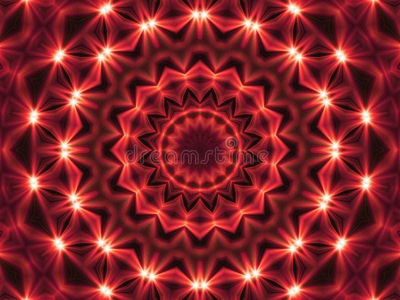 Abstracte Fractal Lichte Achtergrond stock illustratie