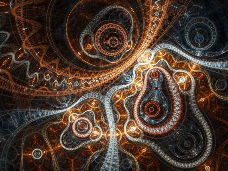 Abstracte fractal machine royalty-vrije illustratie