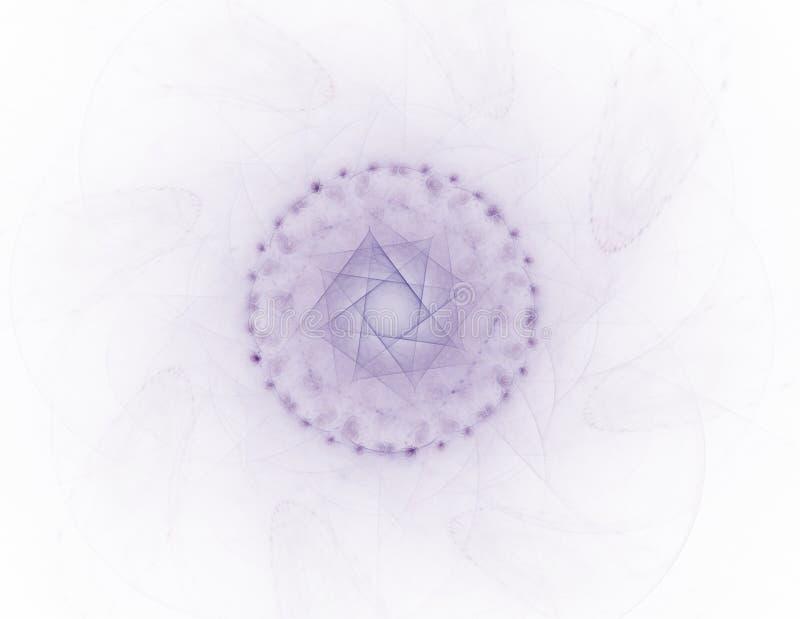 Abstracte fractal patronen en vormen Digitaal kunstwerk voor creatief grafisch ontwerp Symmetrisch fractal pictogram op achtergro royalty-vrije illustratie