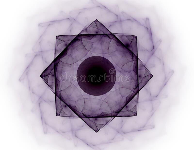 Abstracte fractal patronen en vormen Fractal textuur De kleuren in de reeks, Buitensporige verf De achtergrond bestaat uit fracta royalty-vrije illustratie