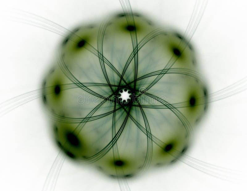 Abstracte fractal patronen en vormen Fractal textuur voor drukken royalty-vrije illustratie