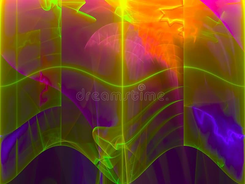Abstracte fractal, patrooneffect ontwerp, vormt surreal stock illustratie