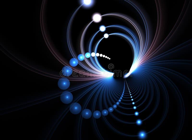 Abstracte Fractal Ringen stock illustratie