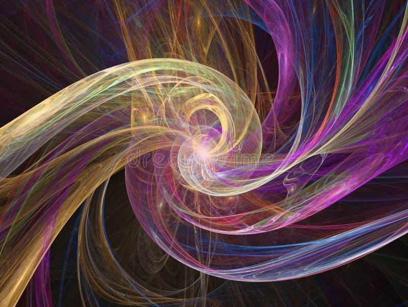 Abstracte fractal vlamfractal backgroundr stock illustratie