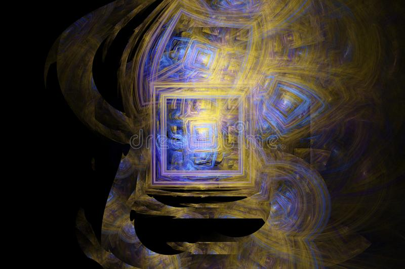 Abstracte fractal vlamfractal backgroundr royalty-vrije illustratie