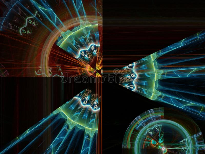 Abstracte fractal vlamfractal backgroundr stock illustratie