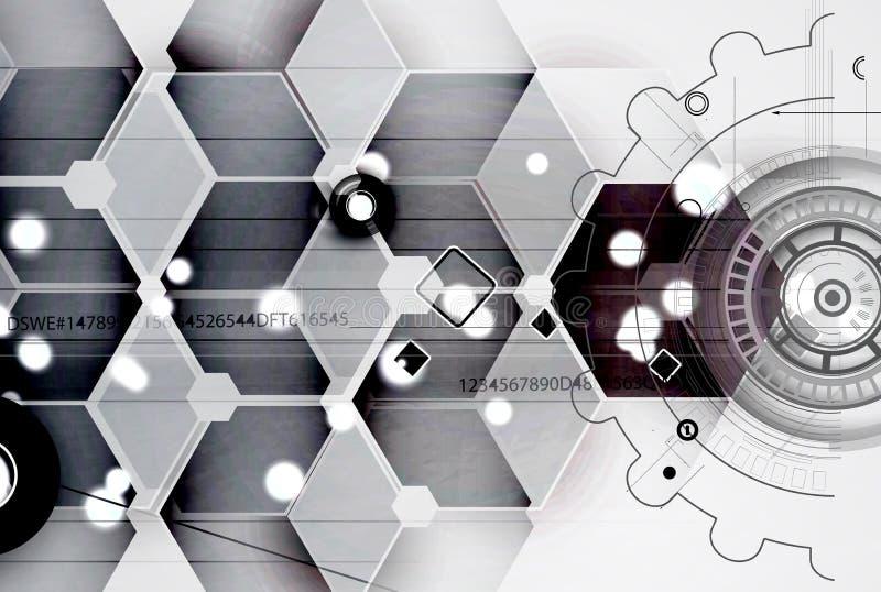 Abstracte futuristisch verdwijnt computertechnologie bedrijfsachtergrond langzaam royalty-vrije stock fotografie