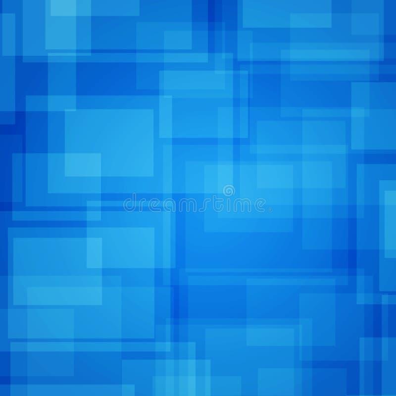Abstracte futuristische achtergrond. Blauwe rechthoeken royalty-vrije illustratie