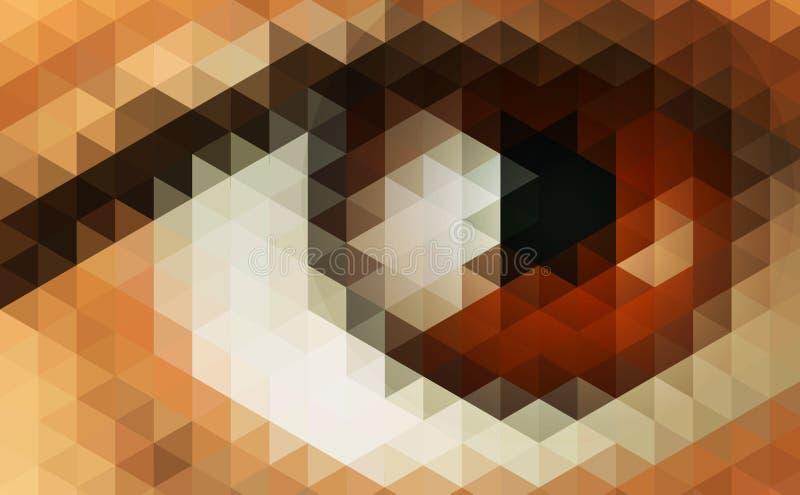 Abstracte futuristische achtergrond met menselijk oog royalty-vrije illustratie