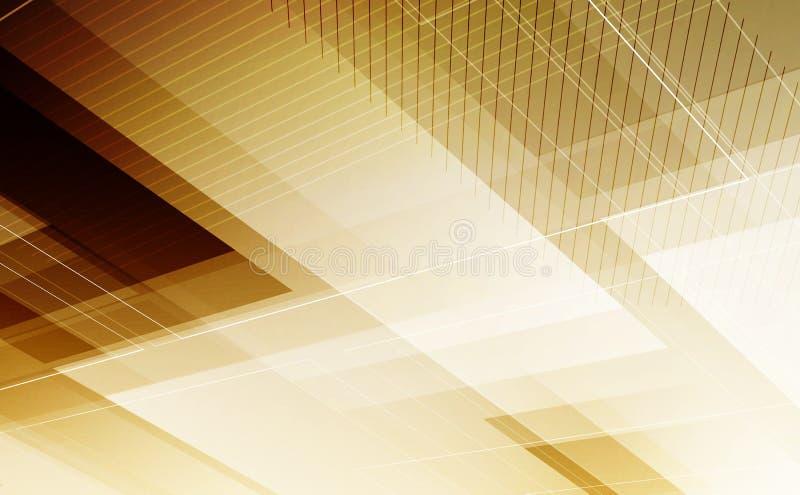 Abstracte futuristische achtergrond met veelhoekige vormen en plaats F royalty-vrije illustratie
