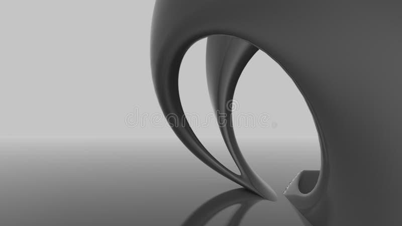Abstracte futuristische architectuur organische vormen vector illustratie