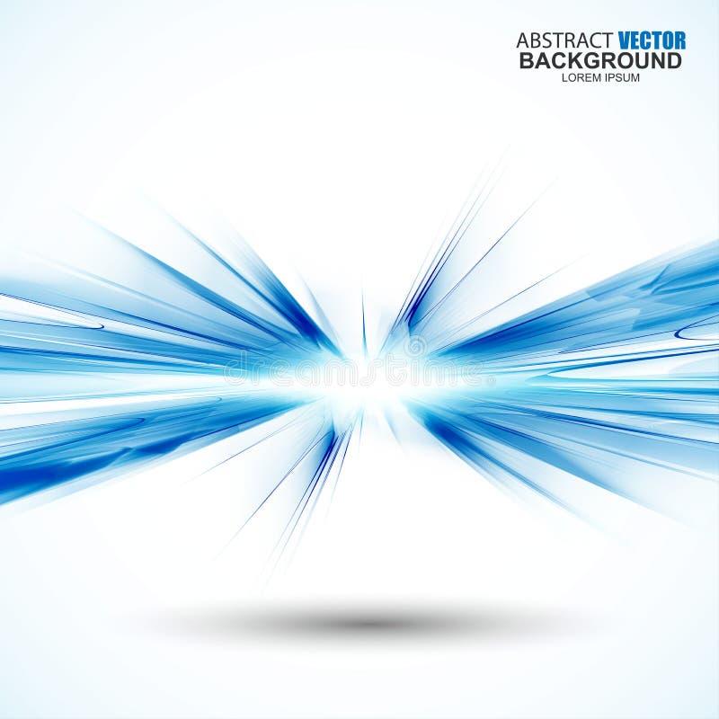 Abstracte futuristische blauwe golvende achtergrond royalty-vrije illustratie
