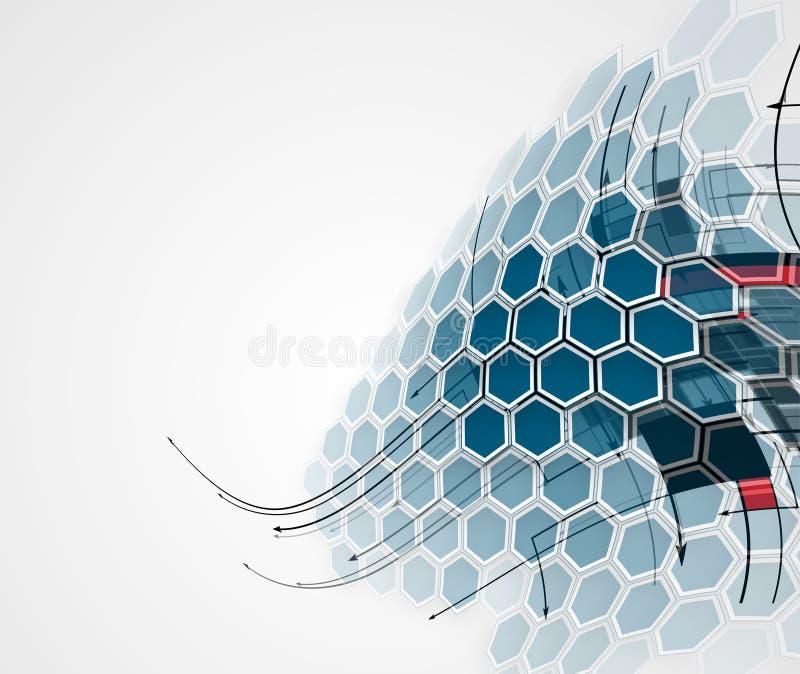 Abstracte futuristische computertechnologie bedrijfsachtergrond stock illustratie