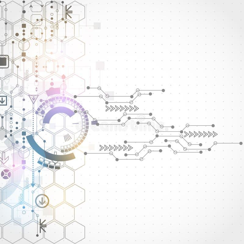 Abstracte futuristische computertechnologie bedrijfsachtergrond royalty-vrije illustratie