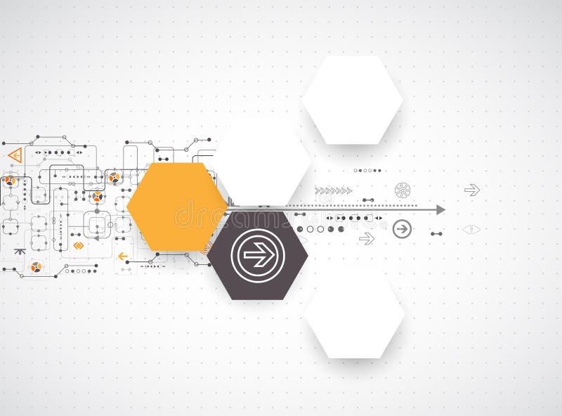 Abstracte futuristische computertechnologieachtergrond stock illustratie