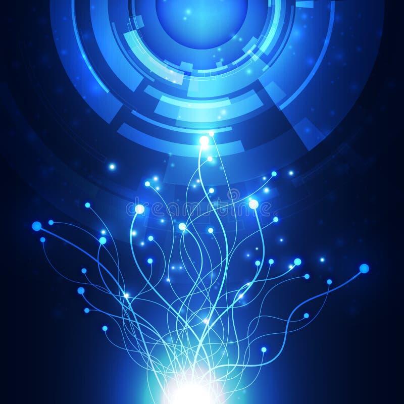 Abstracte futuristische digitale technologieachtergrond illustratievector vector illustratie