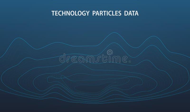 Abstracte futuristische grote gegevens van de achtergrond van het de decoratieontwerp van het puntendeeltje Illustratie vectoreps vector illustratie