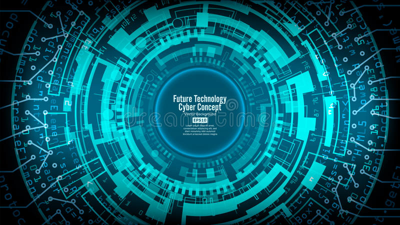 Abstracte Futuristische Technologische Vector Als achtergrond Hallo Snelheids Digitaal Ontwerp De Achtergrond van het veiligheids royalty-vrije illustratie