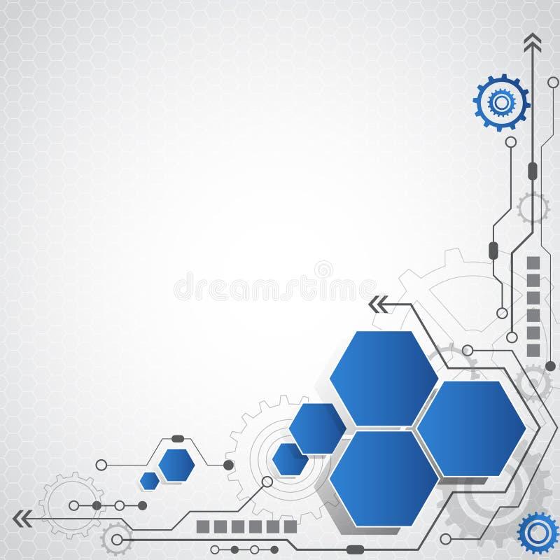 Abstracte futuristische van de bedrijfs krings hoge computertechnologie vectorillustratie als achtergrond