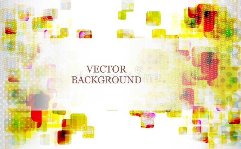 Abstracte futuristische vierkantenachtergrond stock illustratie