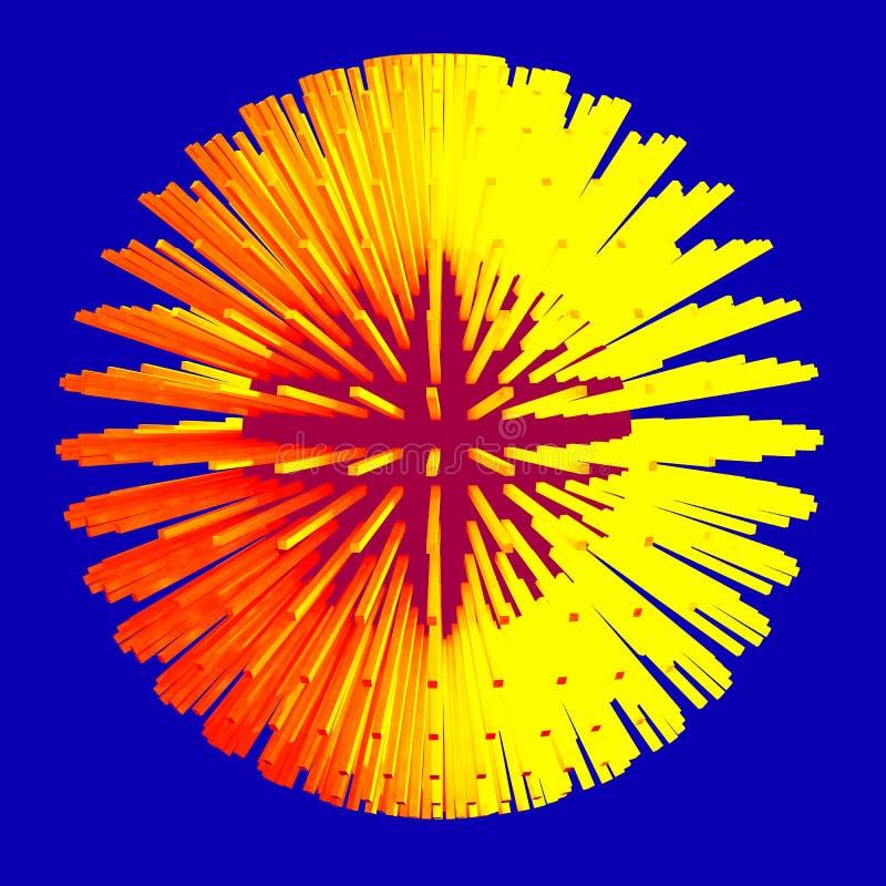 Abstracte gebied 3d illustratie matrijs vector illustratie