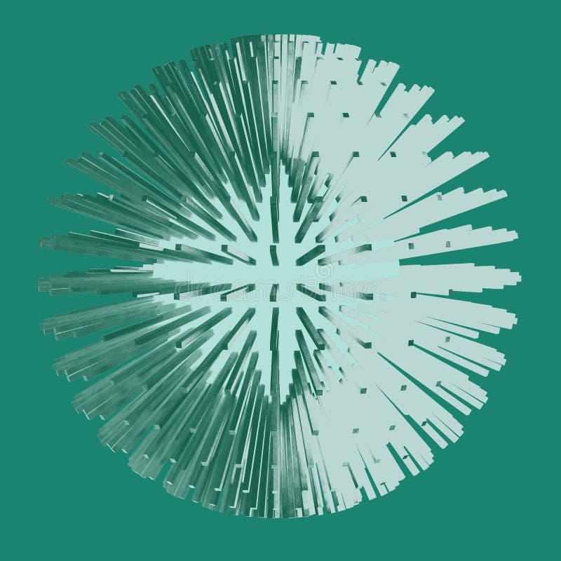 Abstracte gebied 3d illustratie matrijs stock illustratie