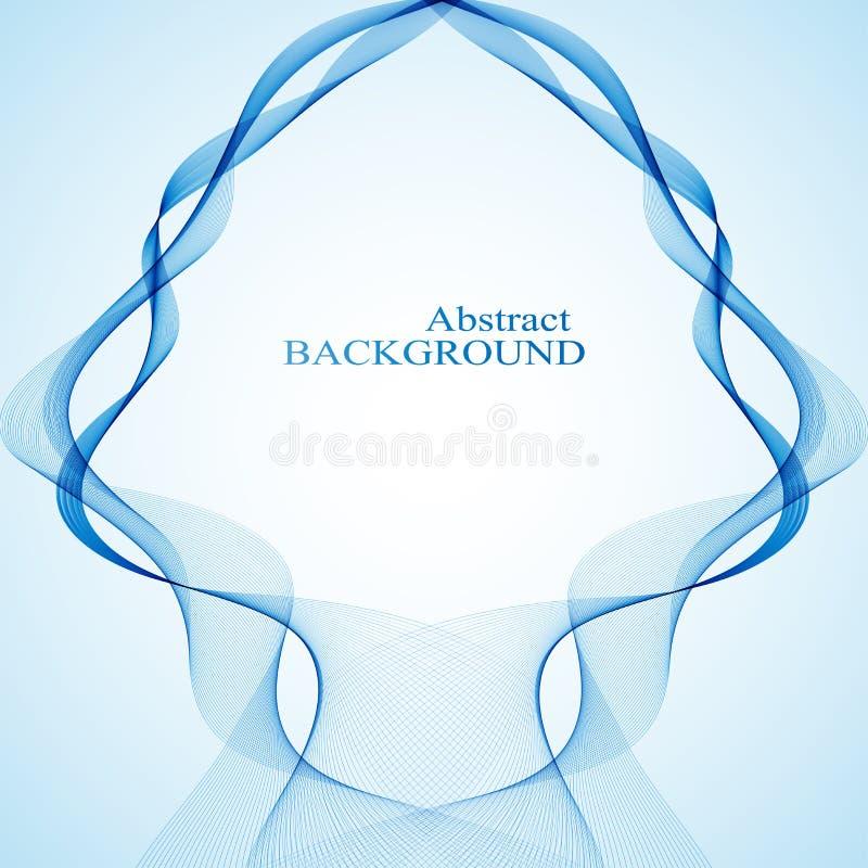 Abstracte gebogen lijnen op zwarte achtergrond Vector royalty-vrije illustratie