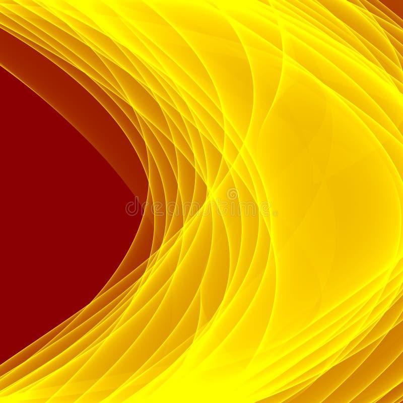 Abstracte Gele achtergrond De Gele Lijnen van Brght Geometrisch patroon in gele en bruine kleuren royalty-vrije illustratie