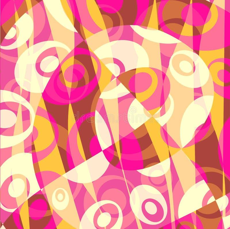 Abstracte gele achtergrond - - roze vector illustratie