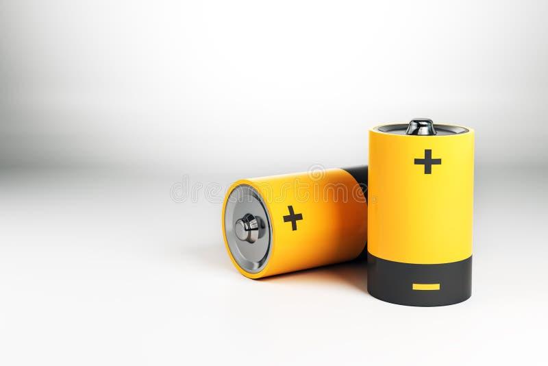 Abstracte gele batterij vector illustratie