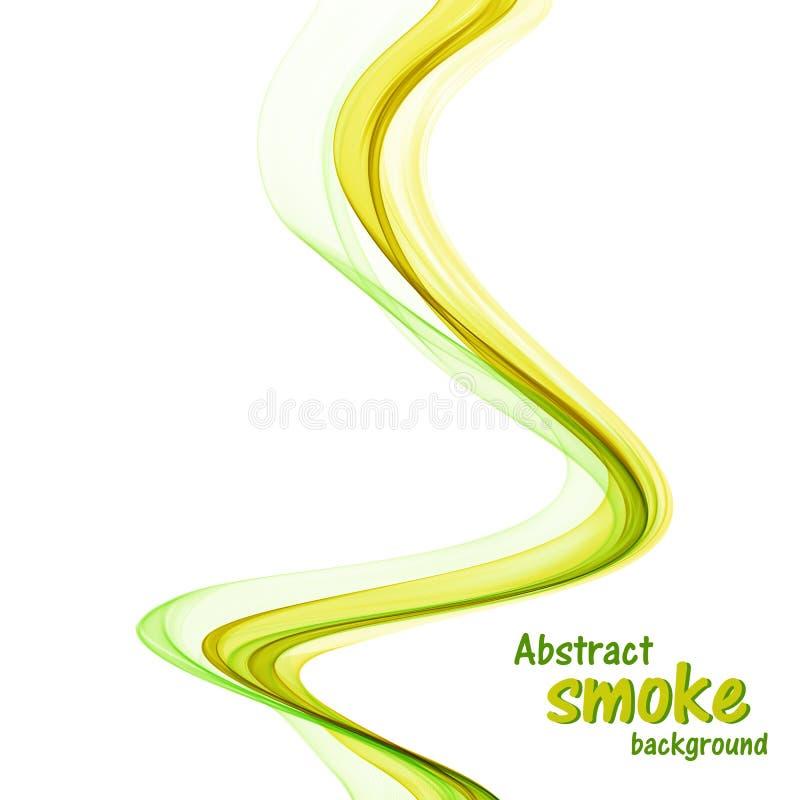 Abstracte gele en groene golven op witte achtergrond stock fotografie