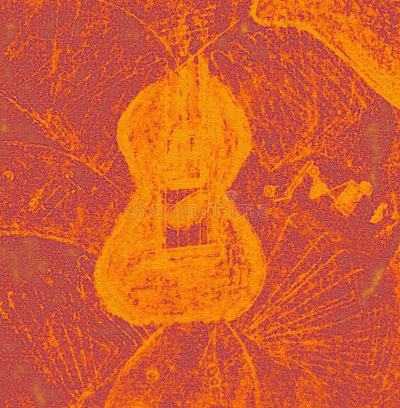 Abstracte gele en purpere achtergrond vector illustratie