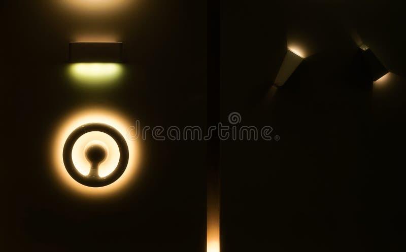 Abstracte gele lichten en schaduwen stock foto's
