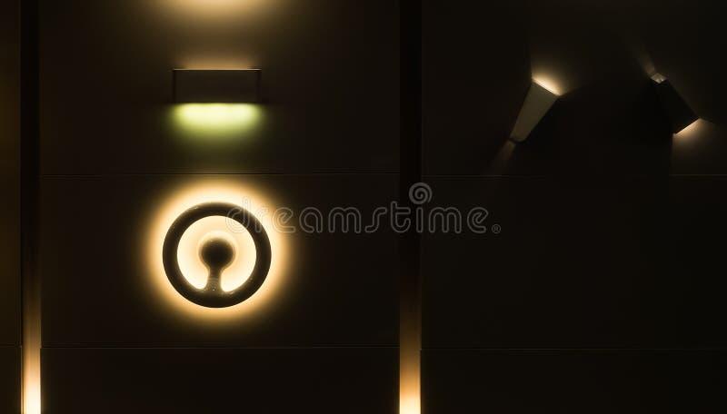 Abstracte gele lichten en schaduwen stock fotografie