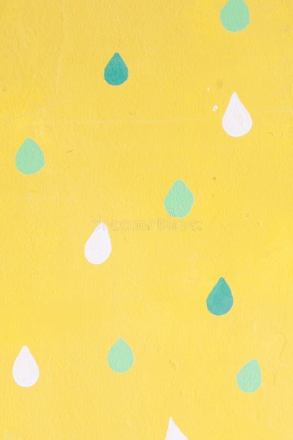 Abstracte gele muurtextuur en achtergrond voor ontwerp Abstracte die muurtextuur in geel wordt geschilderd royalty-vrije stock foto