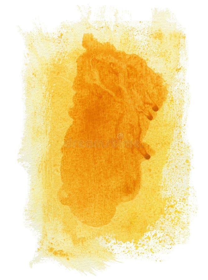 Abstracte gele waterverfachtergrond royalty-vrije stock afbeeldingen