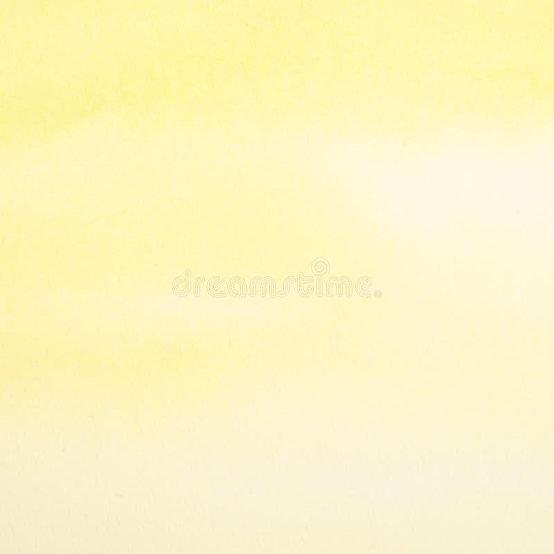 Abstracte gele waterverfachtergrond royalty-vrije stock afbeelding