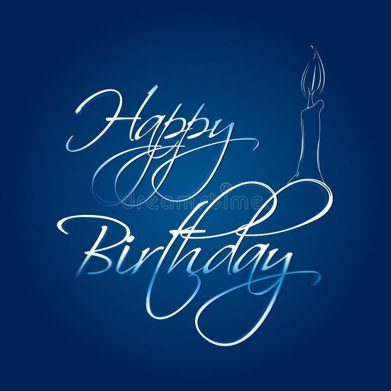 Abstracte gelukkige verjaardagskaart stock illustratie