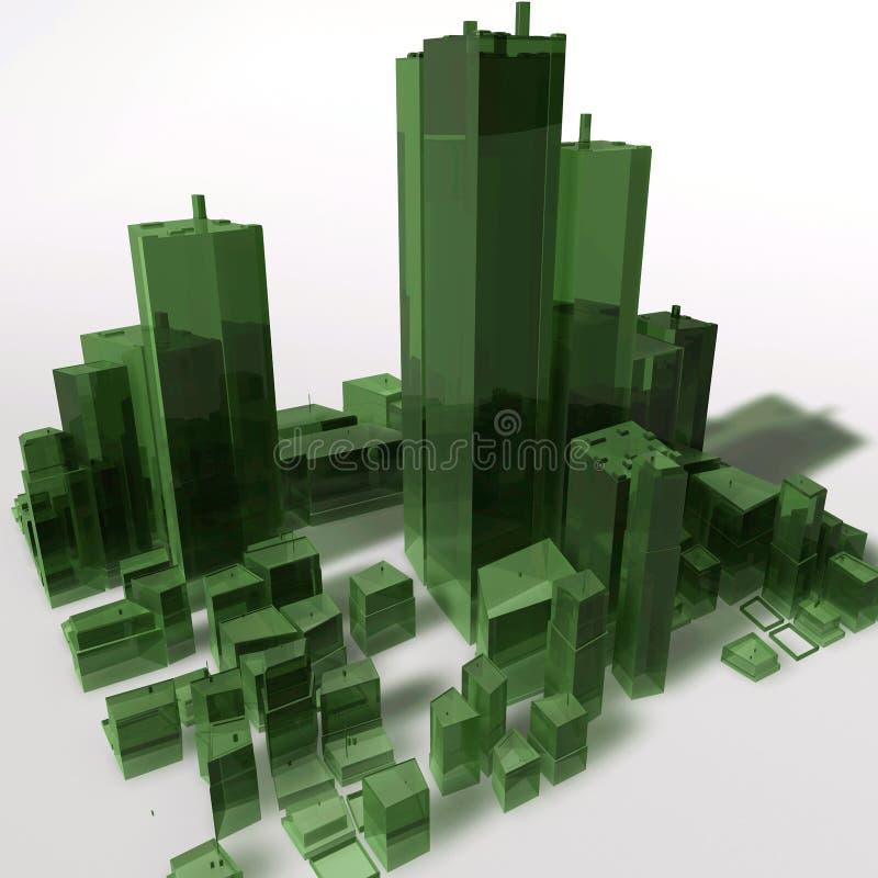 Abstracte generische stad stock illustratie