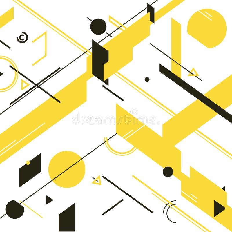 Abstracte geometrisch royalty-vrije illustratie