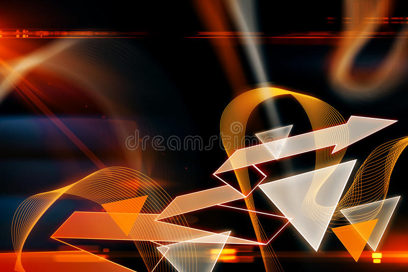 Abstracte geometrisch stock illustratie