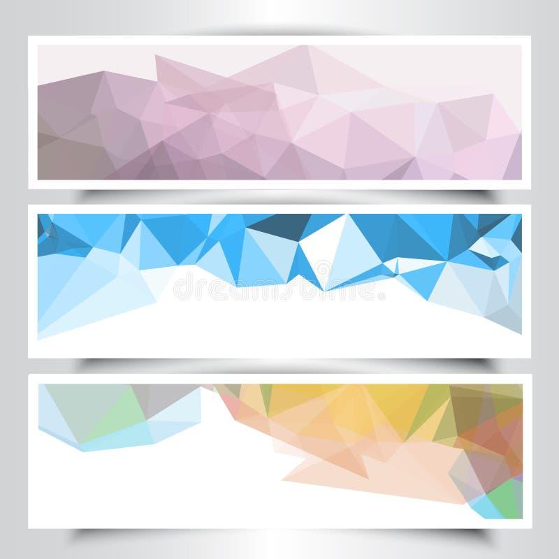 Abstracte geometrisch ontwerpbanners vector illustratie