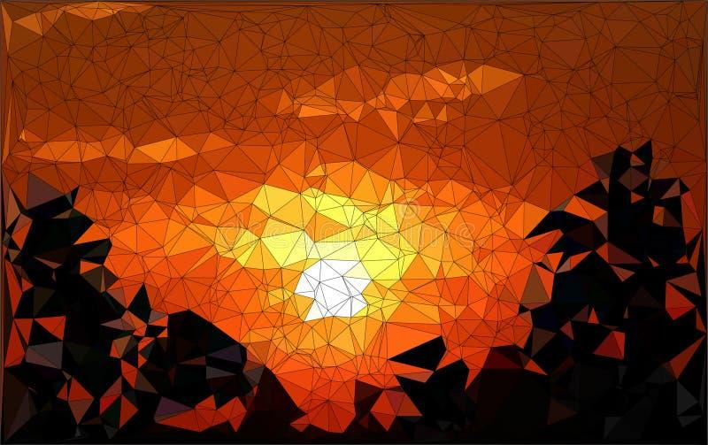 Abstracte geometrisch ontwerpzonsondergang vector illustratie