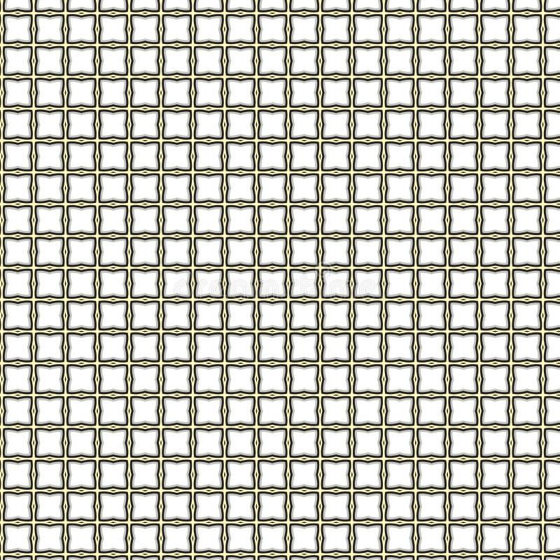 Abstracte Geometrisch trekt zich het Naadloze Patroon van Mesh Texture Pattern Fabric Illustration terug vector illustratie