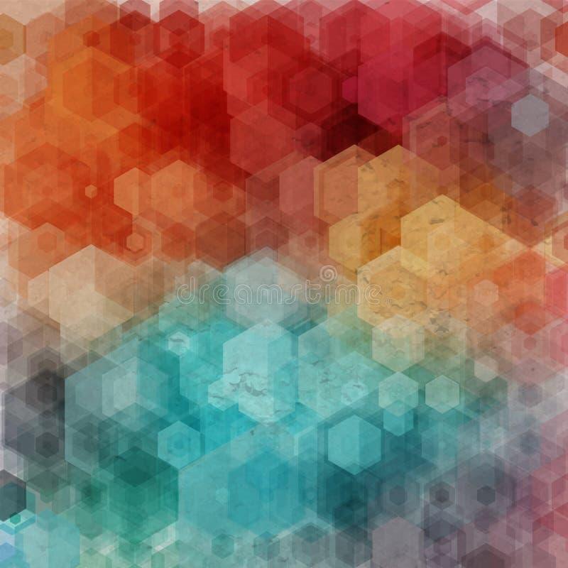Abstracte geometrisch Vector illustratie vector illustratie