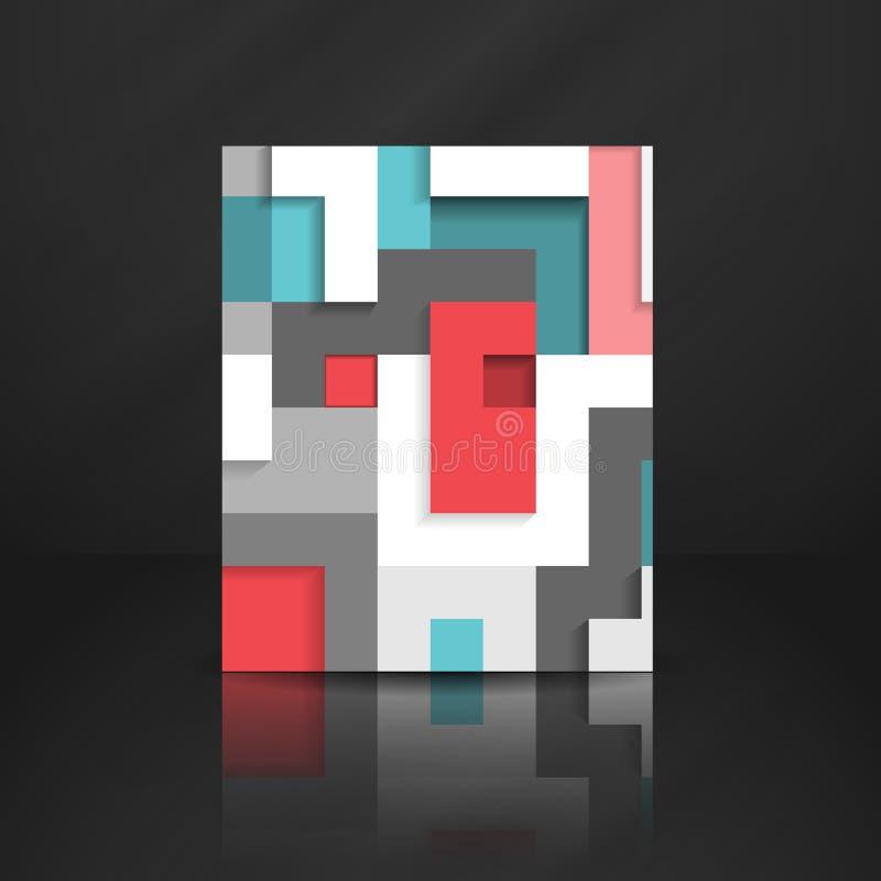 Abstracte Geometrische Achtergrond. stock illustratie
