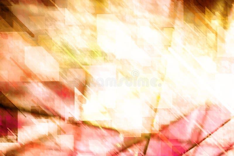 Abstracte geometrische achtergrond in de herfsttonen stock afbeelding